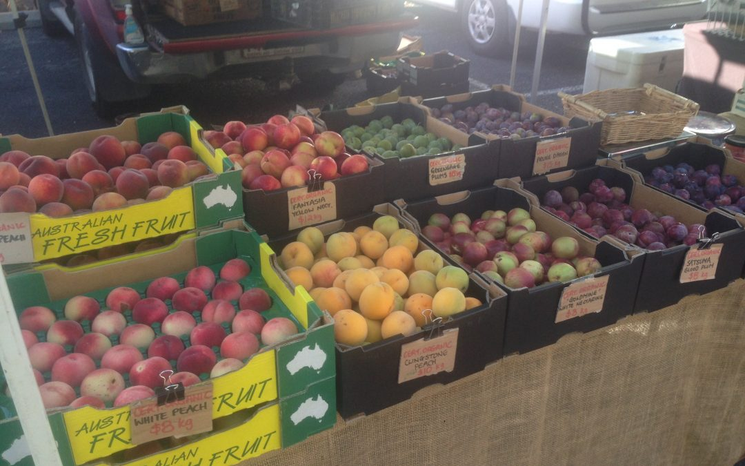 Organic fruit at the Farmers Markets